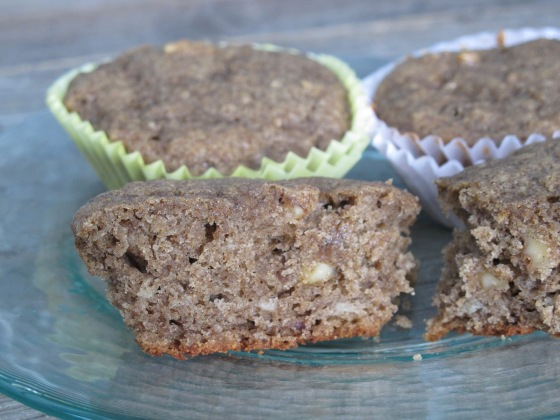 Buckwheat-Banana-Walnut muffins