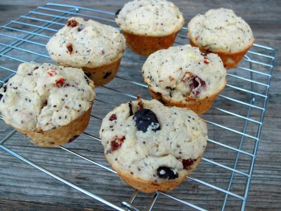 Olive Chia muffins